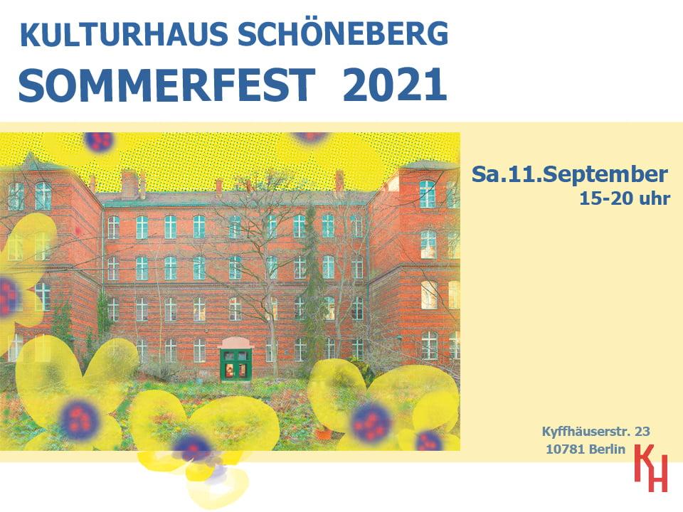 Sommerfest Kulturhaus Schöneberg 2021